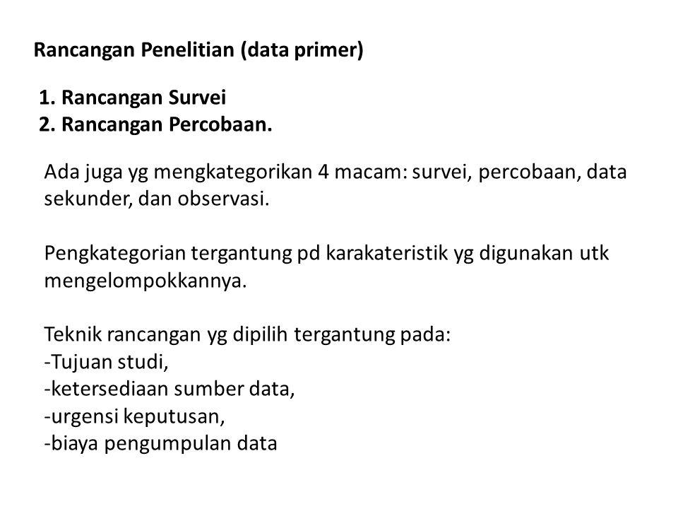 Rancangan Penelitian (data primer)