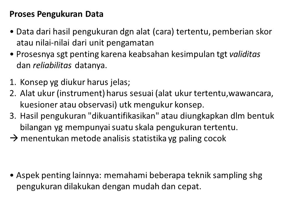 Proses Pengukuran Data