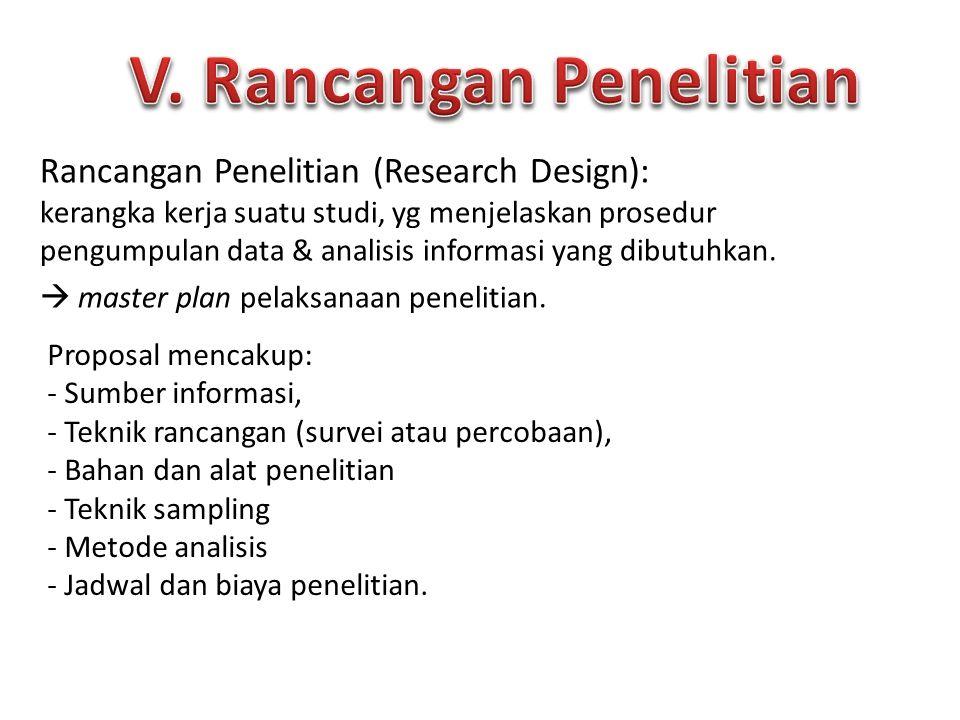 V. Rancangan Penelitian