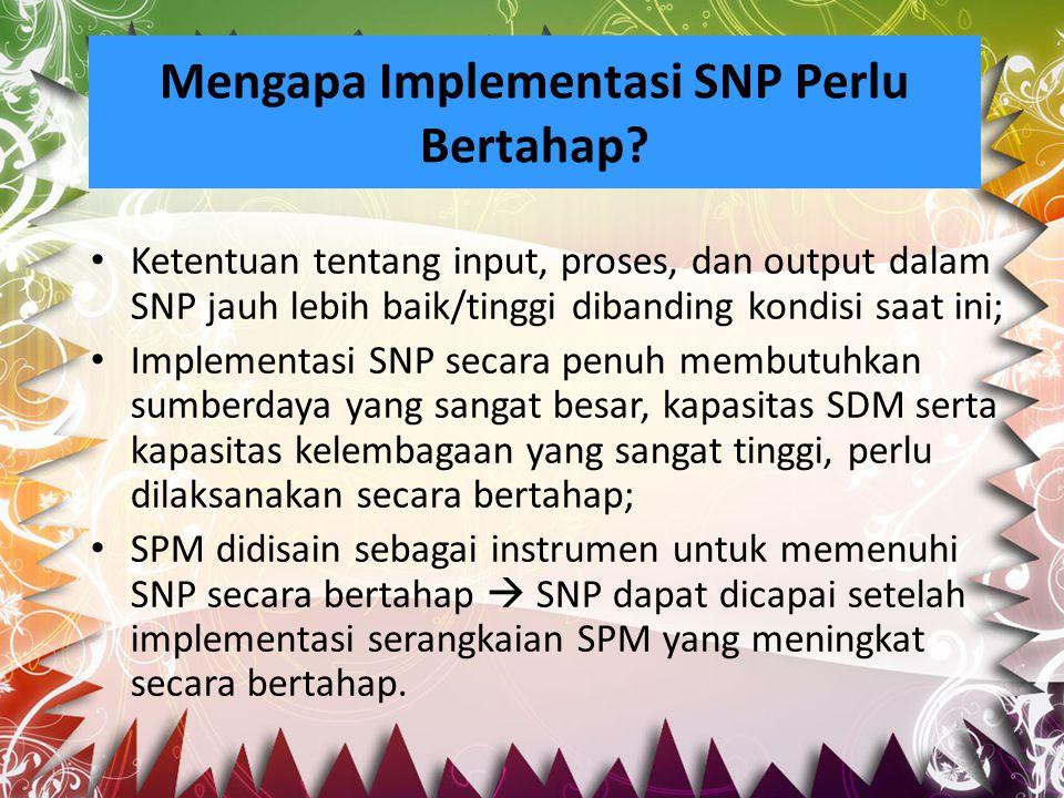 Mengapa Implementasi SNP Perlu Bertahap