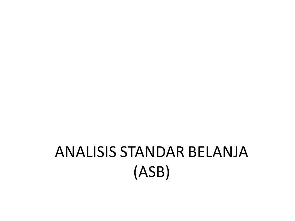 ANALISIS STANDAR BELANJA (ASB)