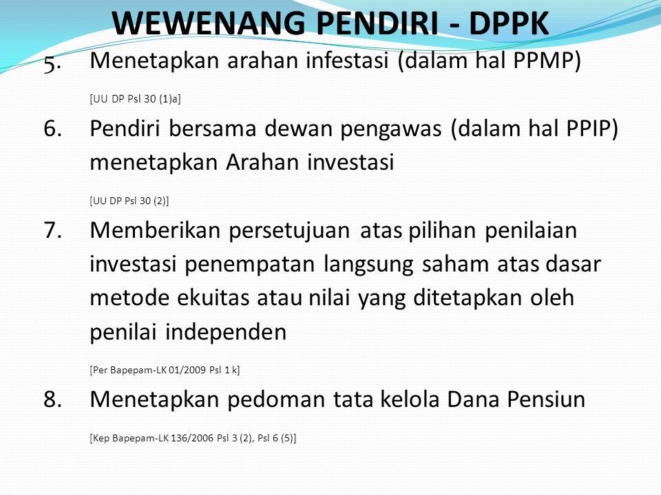 WEWENANG PENDIRI - DPPK
