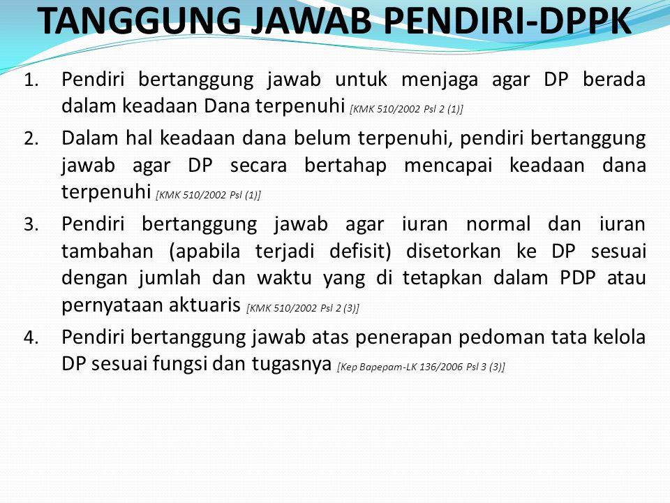 TANGGUNG JAWAB PENDIRI-DPPK