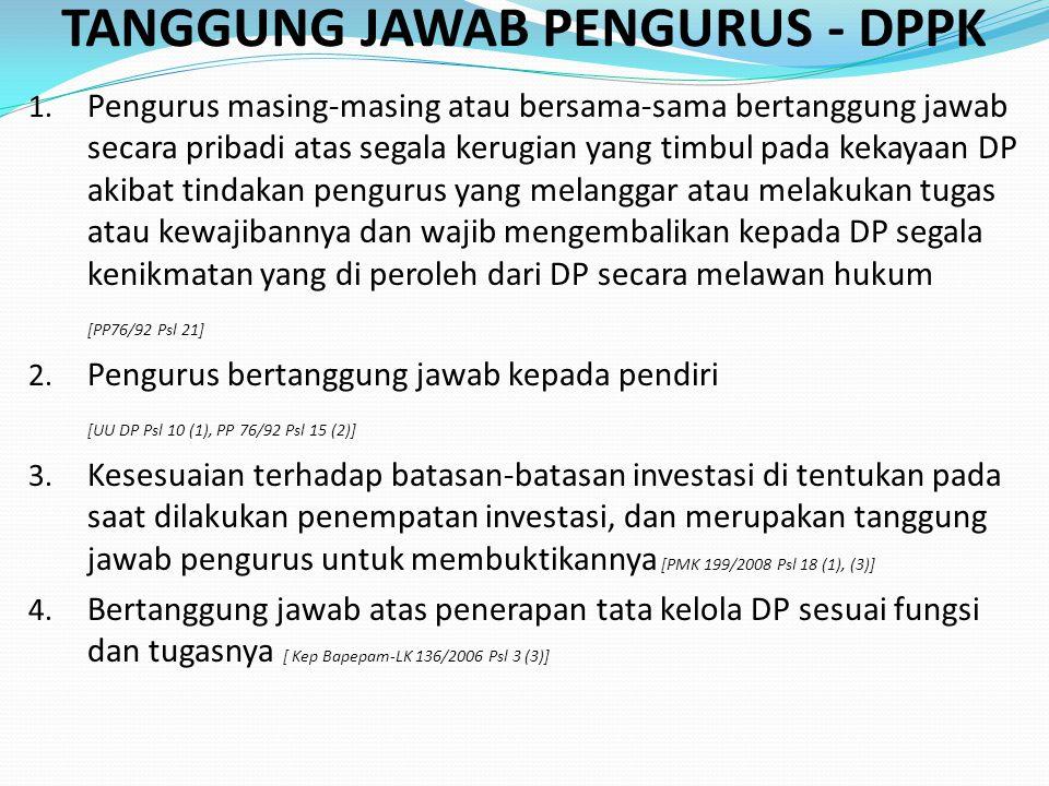 TANGGUNG JAWAB PENGURUS - DPPK