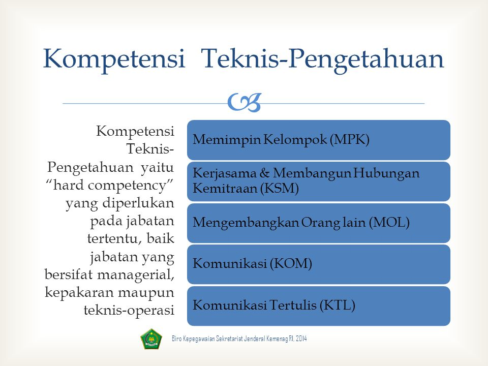 Kompetensi Teknis-Pengetahuan