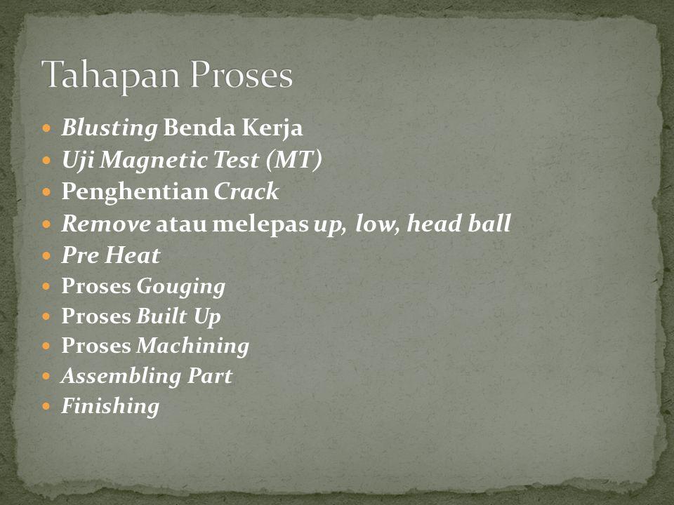 Tahapan Proses Blusting Benda Kerja Uji Magnetic Test (MT)