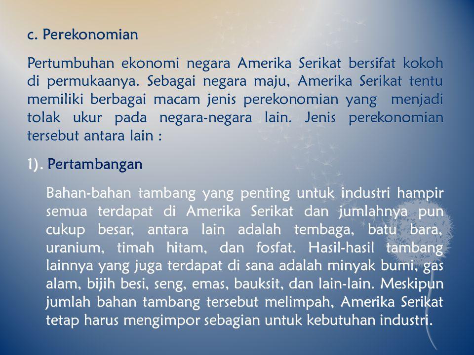 c. Perekonomian