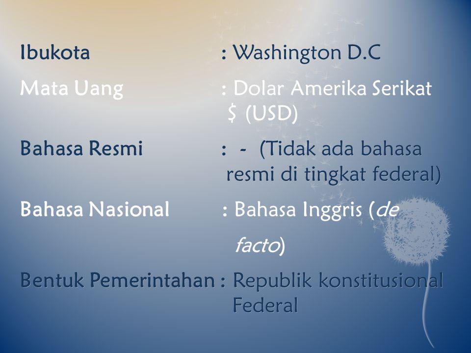 Ibukota : Washington D.C