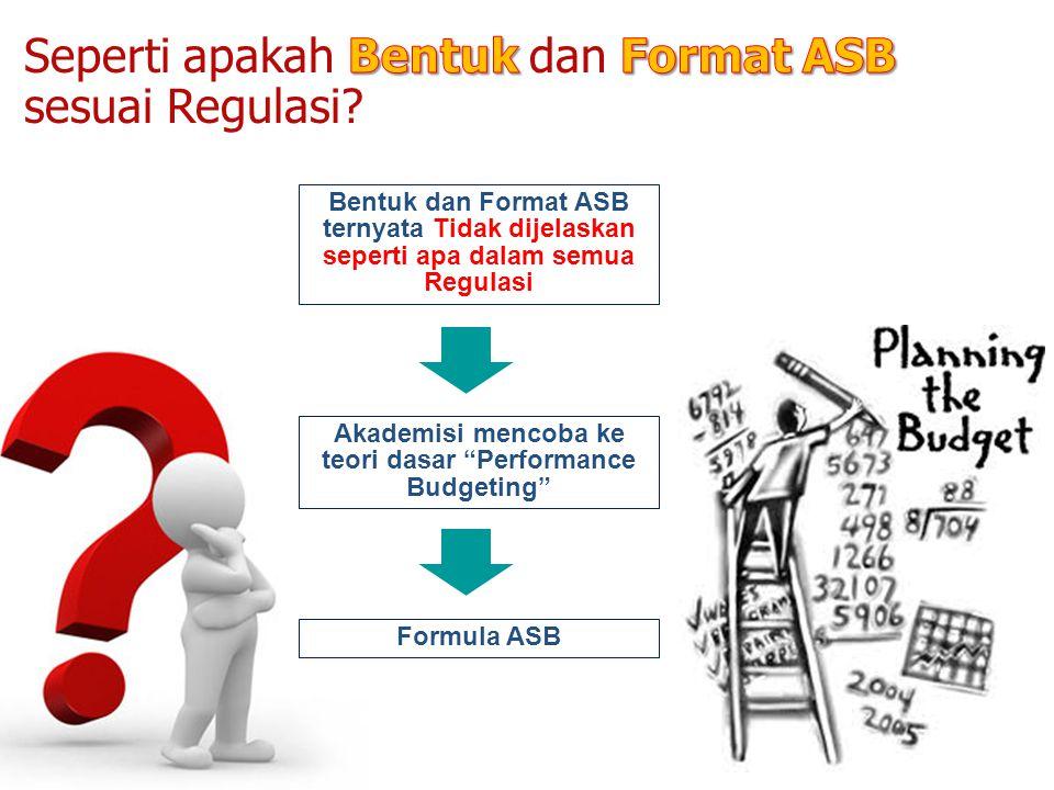 Akademisi mencoba ke teori dasar Performance Budgeting