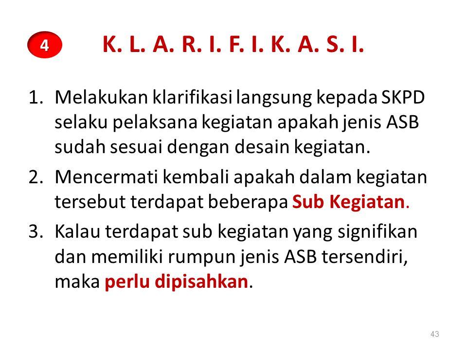 K. L. A. R. I. F. I. K. A. S. I. 4.