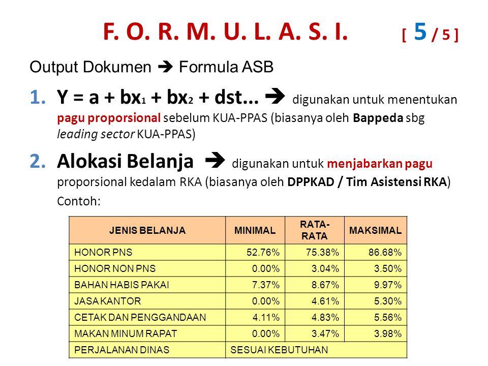 Output Dokumen  Formula ASB