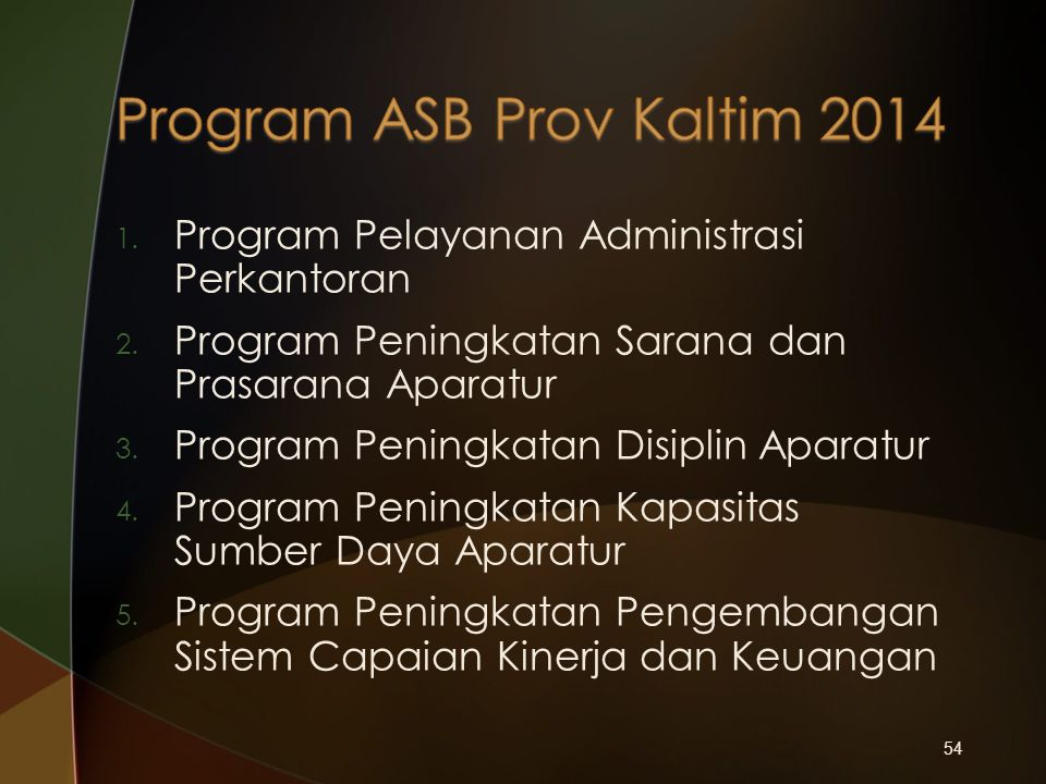 Program ASB Prov Kaltim 2014