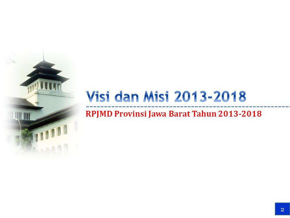 Visi dan Misi 2013-2018 RPJMD Provinsi Jawa Barat Tahun 2013-2018 2