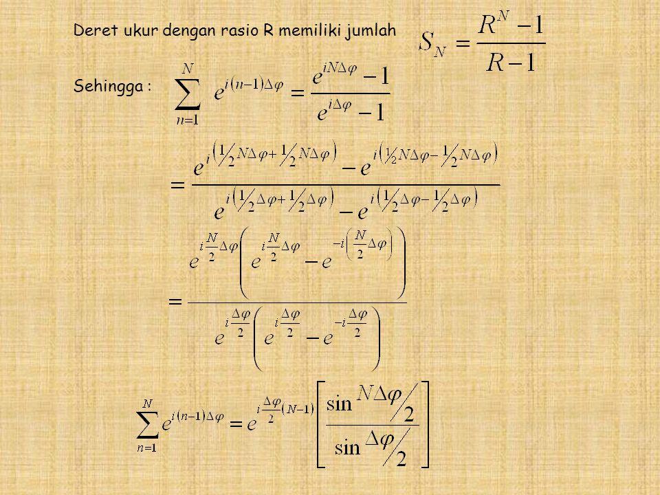 Deret ukur dengan rasio R memiliki jumlah