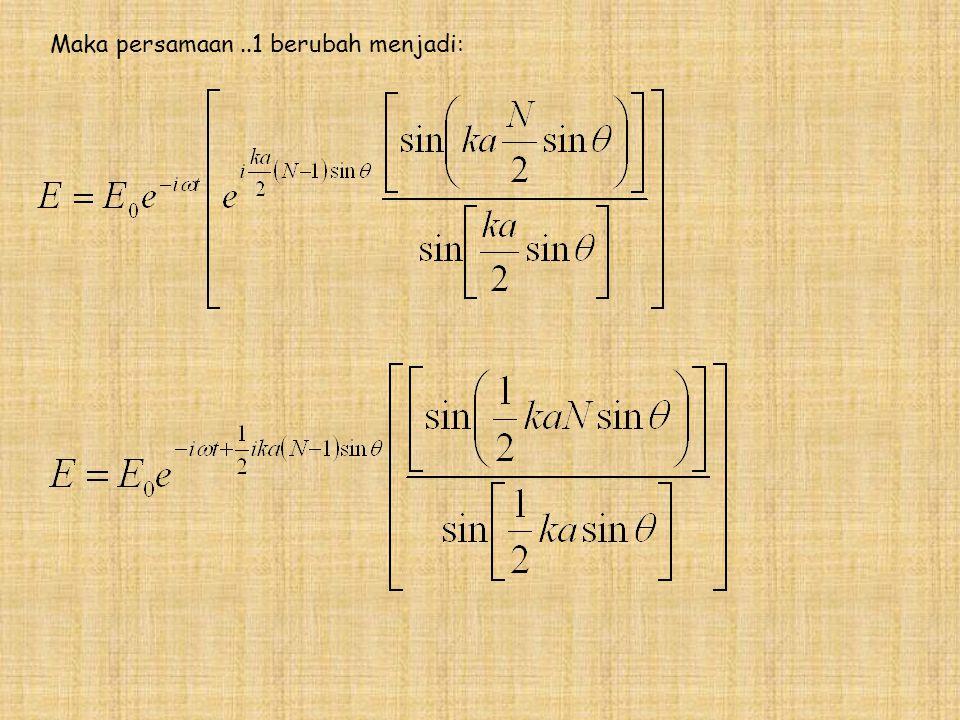 Maka persamaan ..1 berubah menjadi:
