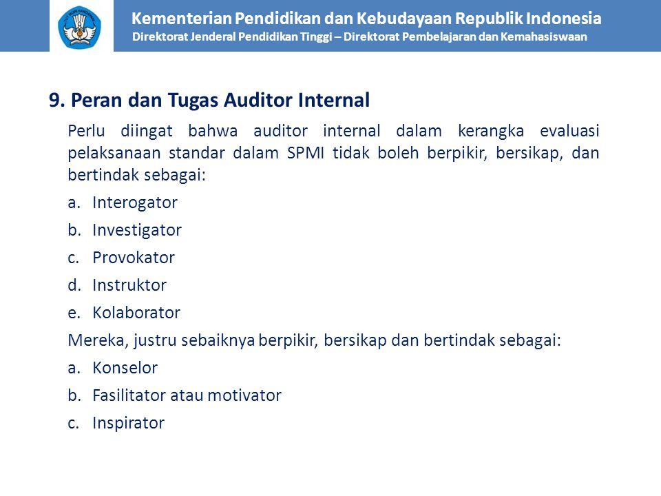 9. Peran dan Tugas Auditor Internal