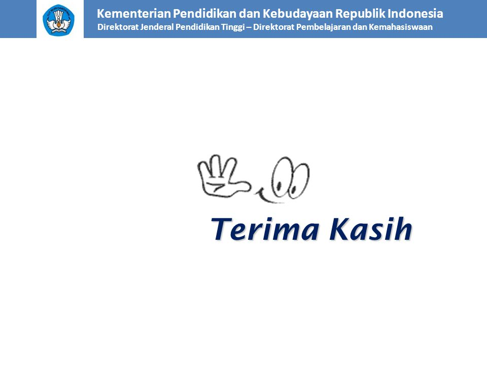 Terima Kasih Kementerian Pendidikan dan Kebudayaan Republik Indonesia