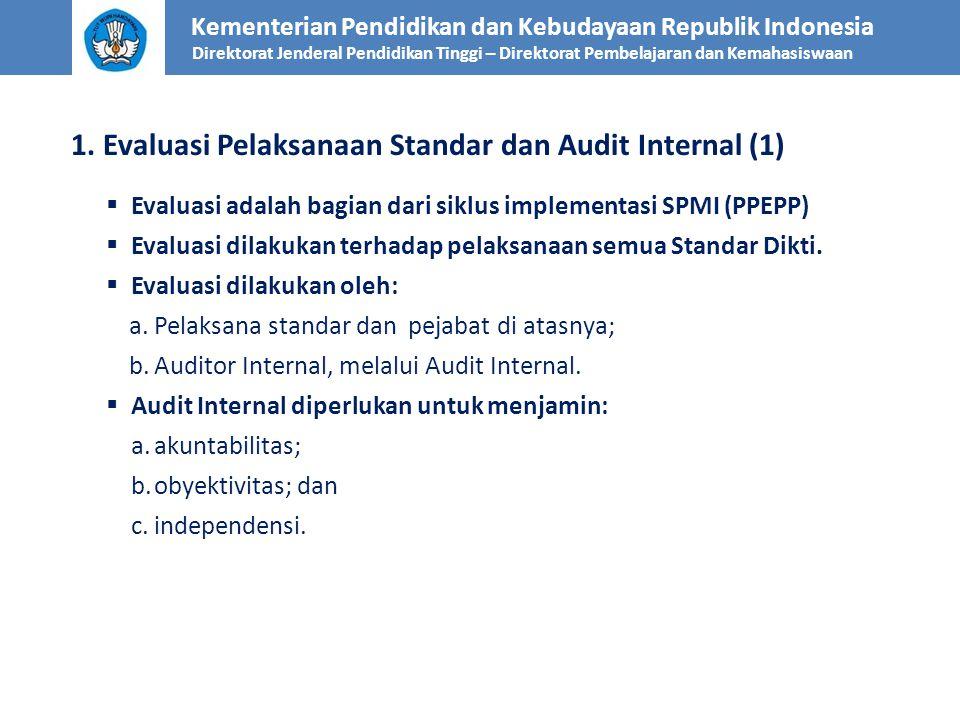 1. Evaluasi Pelaksanaan Standar dan Audit Internal (1)