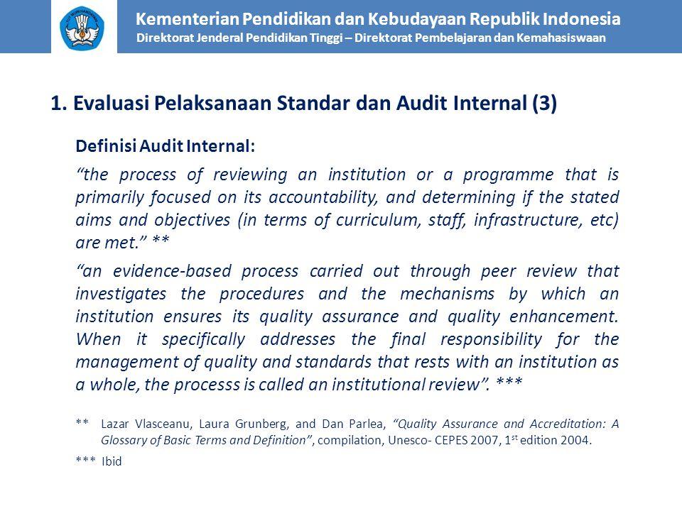1. Evaluasi Pelaksanaan Standar dan Audit Internal (3)