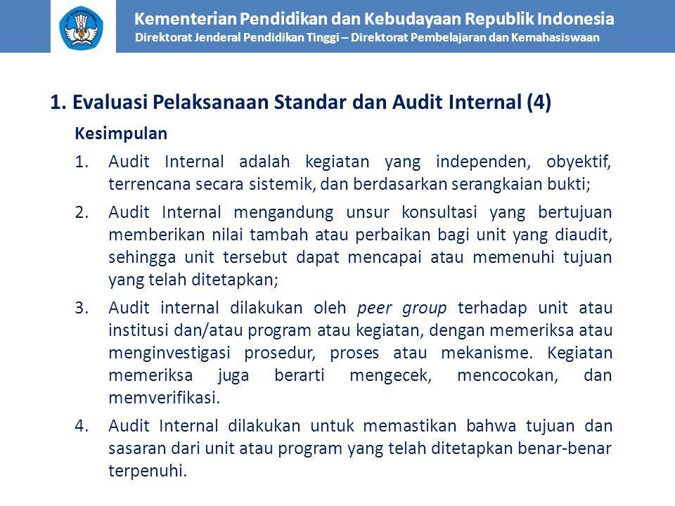 1. Evaluasi Pelaksanaan Standar dan Audit Internal (4)