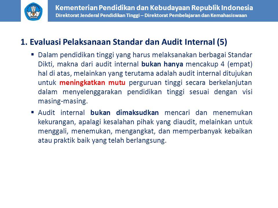 1. Evaluasi Pelaksanaan Standar dan Audit Internal (5)