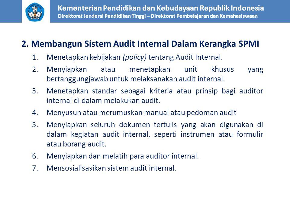 2. Membangun Sistem Audit Internal Dalam Kerangka SPMI