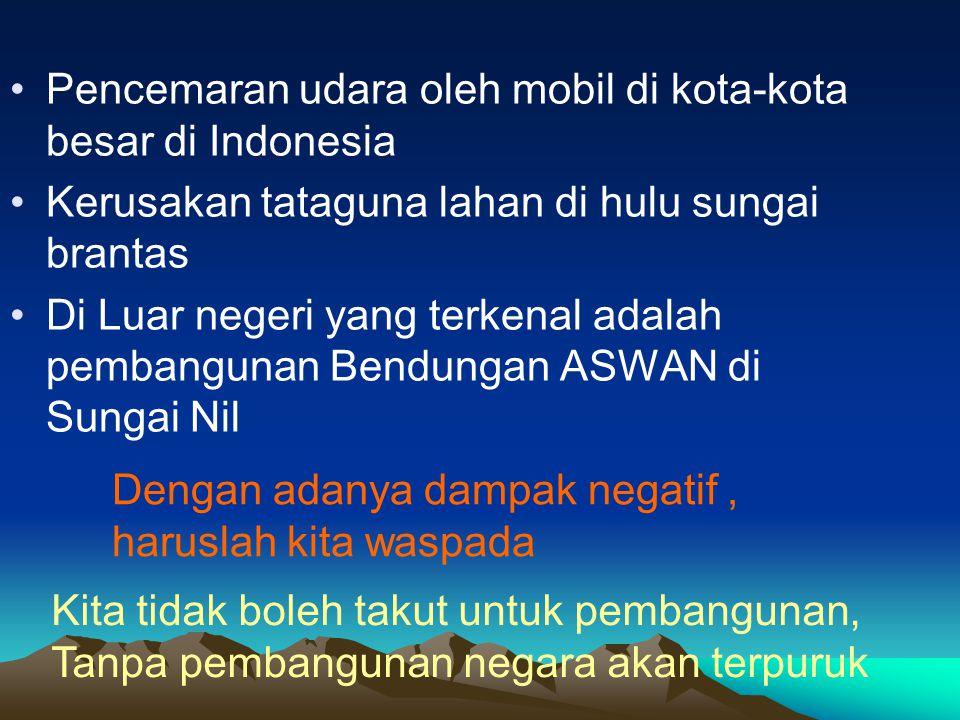 Pencemaran udara oleh mobil di kota-kota besar di Indonesia