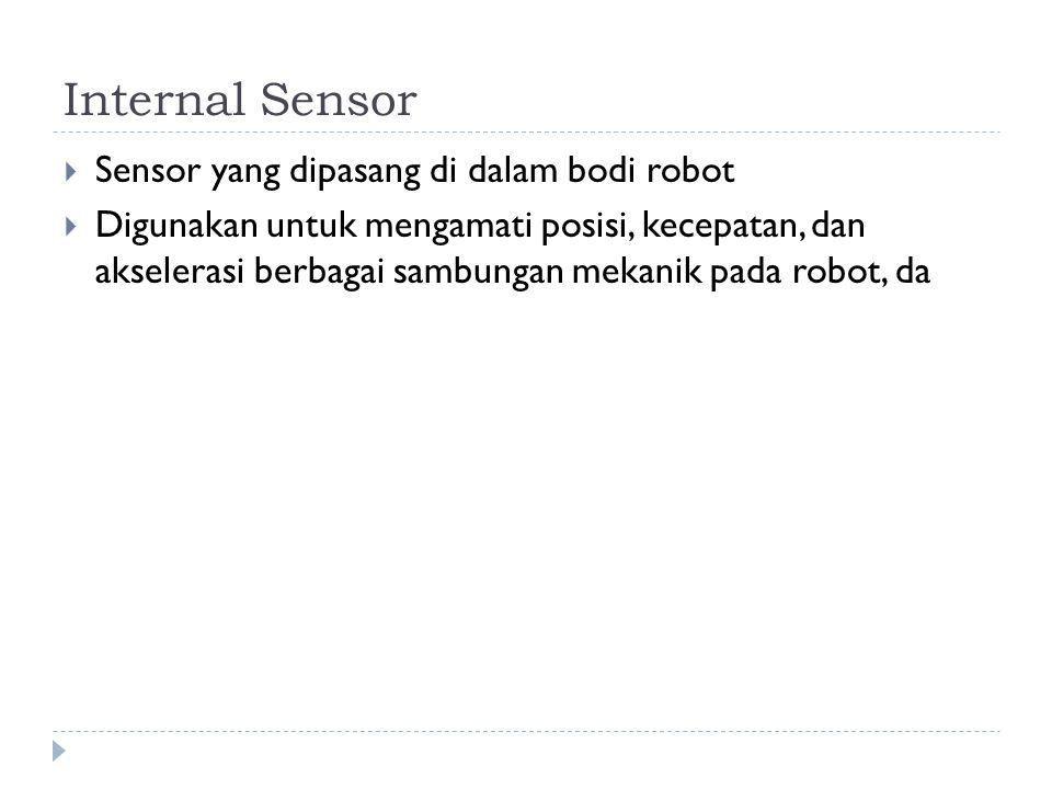 Internal Sensor Sensor yang dipasang di dalam bodi robot