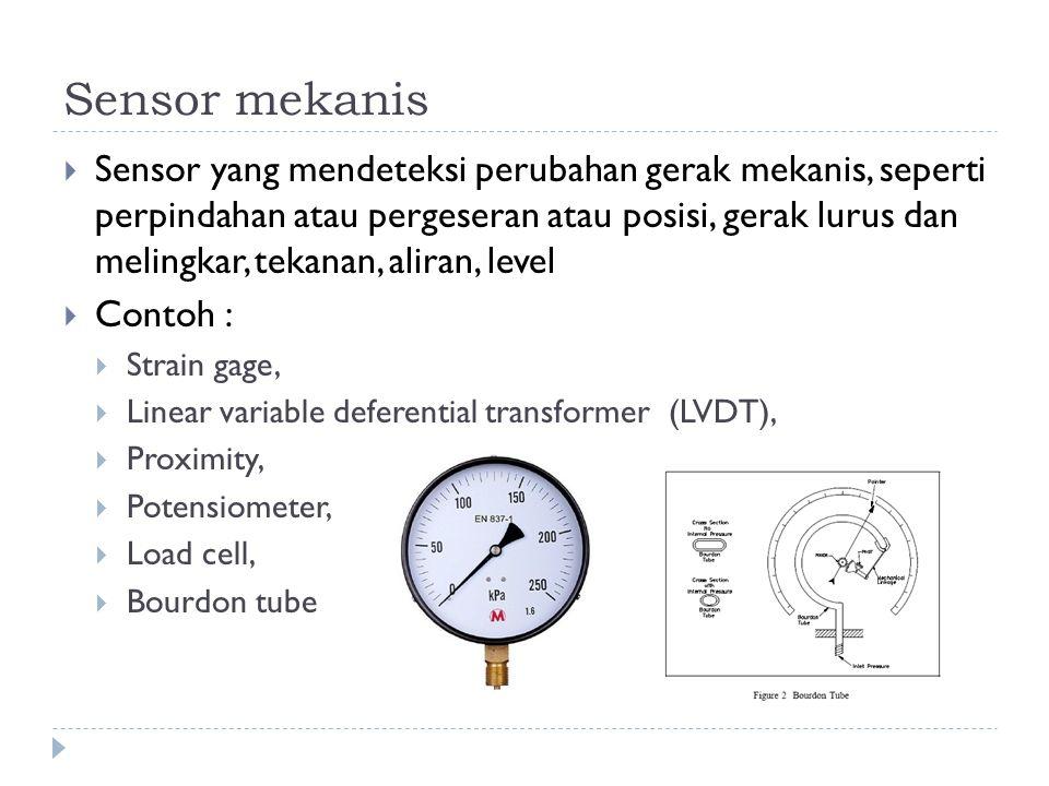 Sensor mekanis