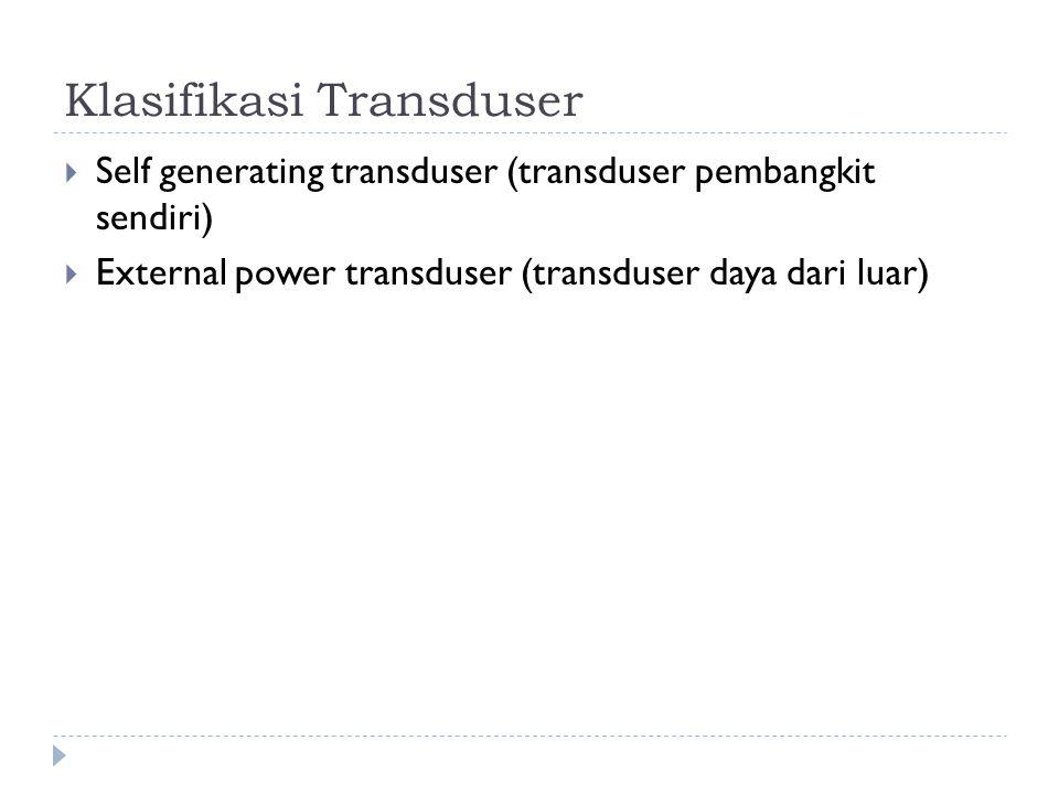 Klasifikasi Transduser