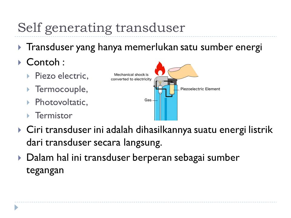 Self generating transduser