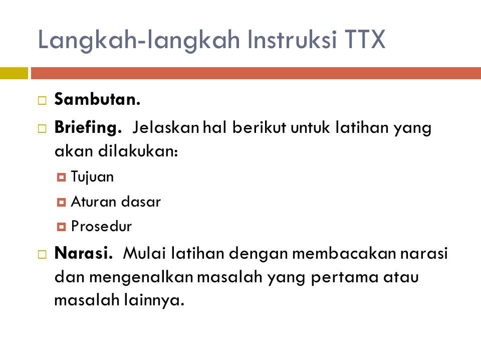 Langkah-langkah Instruksi TTX
