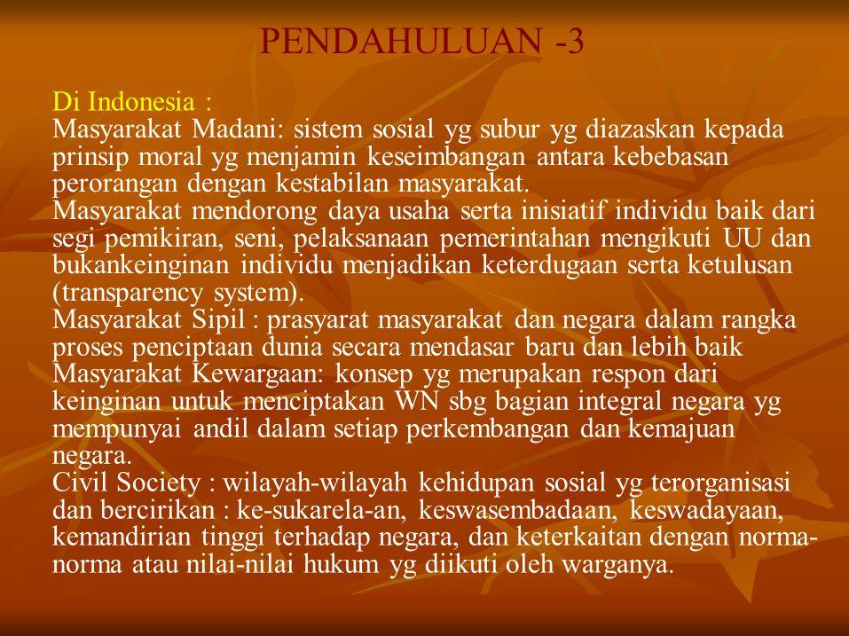 PENDAHULUAN -3 Di Indonesia :