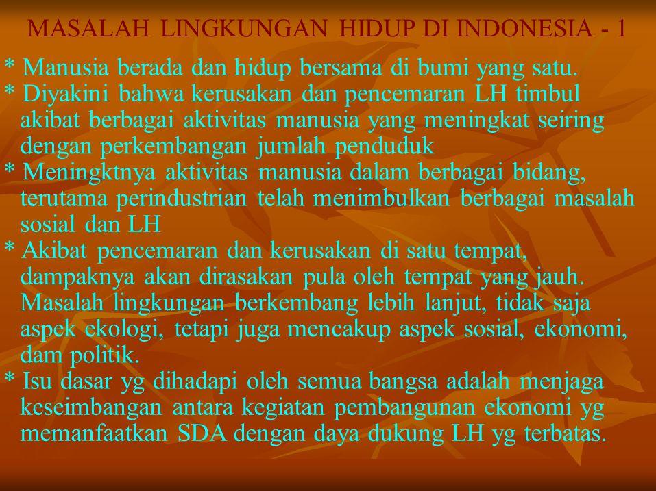 MASALAH LINGKUNGAN HIDUP DI INDONESIA - 1