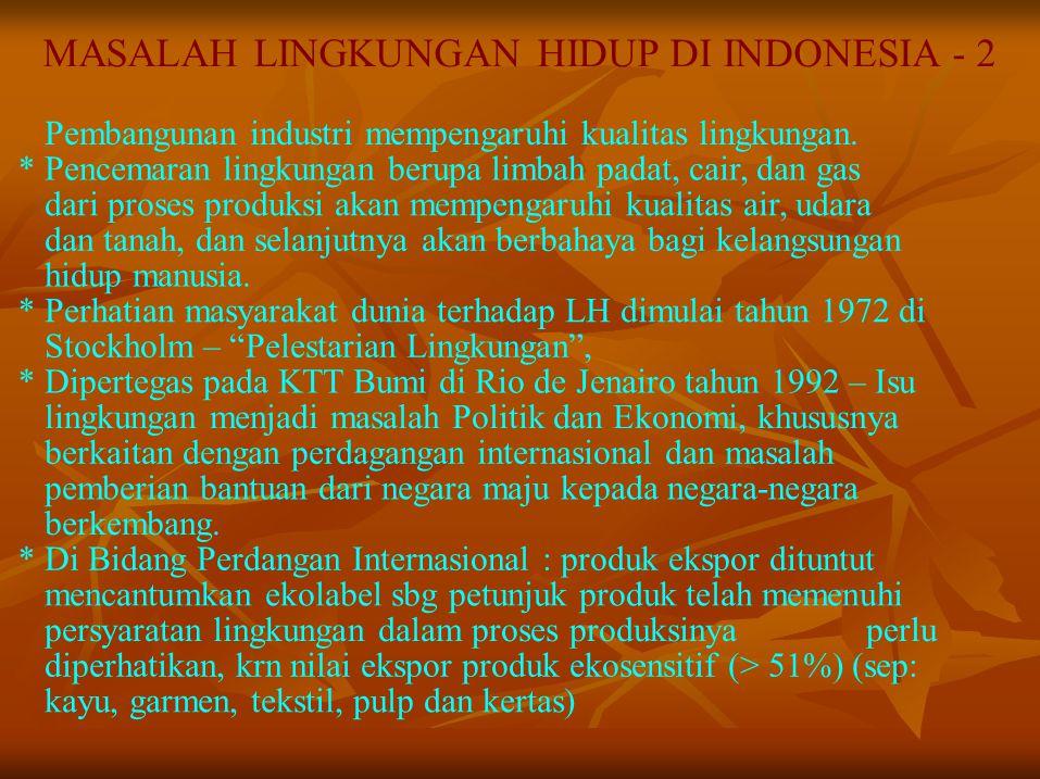 MASALAH LINGKUNGAN HIDUP DI INDONESIA - 2