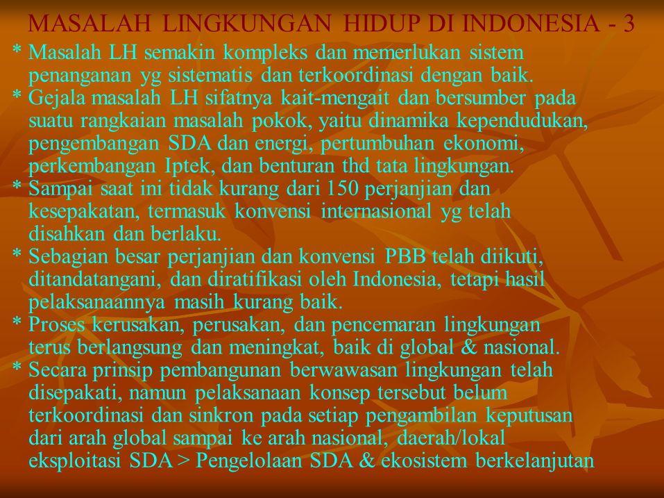MASALAH LINGKUNGAN HIDUP DI INDONESIA - 3