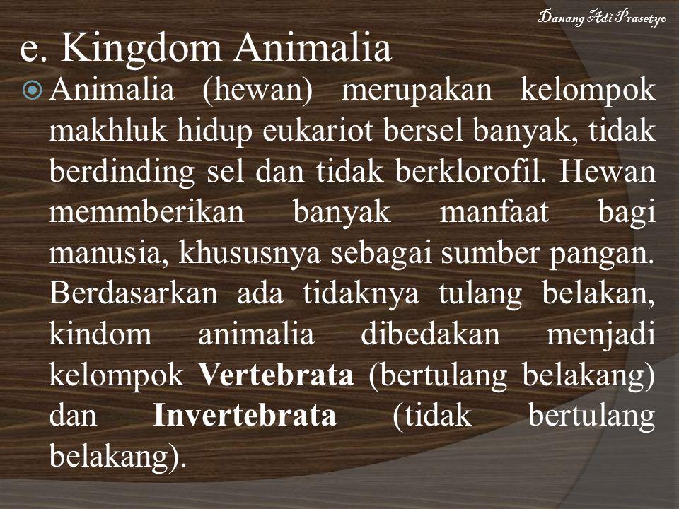 Danang Adi Prasetyo e. Kingdom Animalia.
