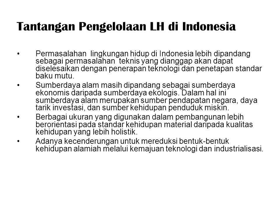 Tantangan Pengelolaan LH di Indonesia