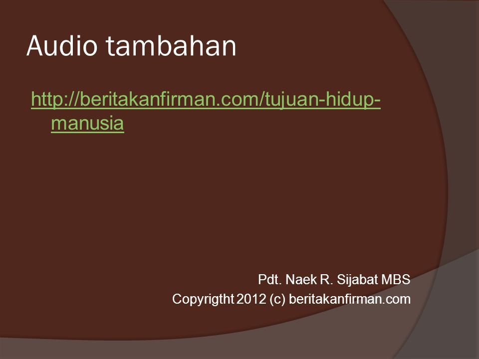 Audio tambahan
