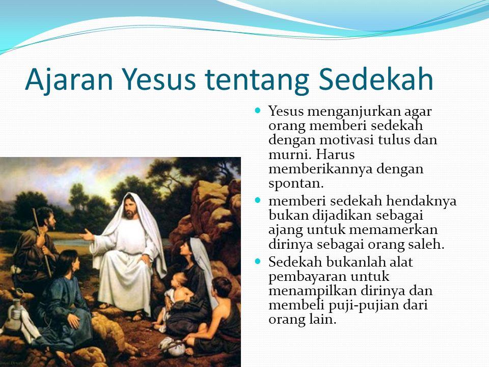 Ajaran Yesus tentang Sedekah