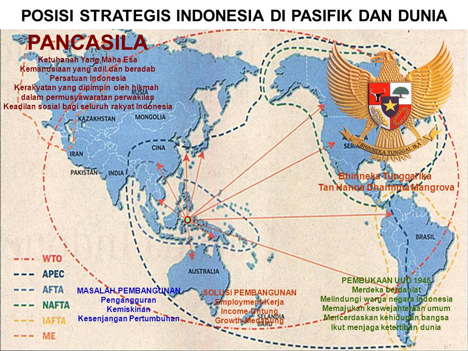 PANCASILA POSISI STRATEGIS INDONESIA DI PASIFIK DAN DUNIA