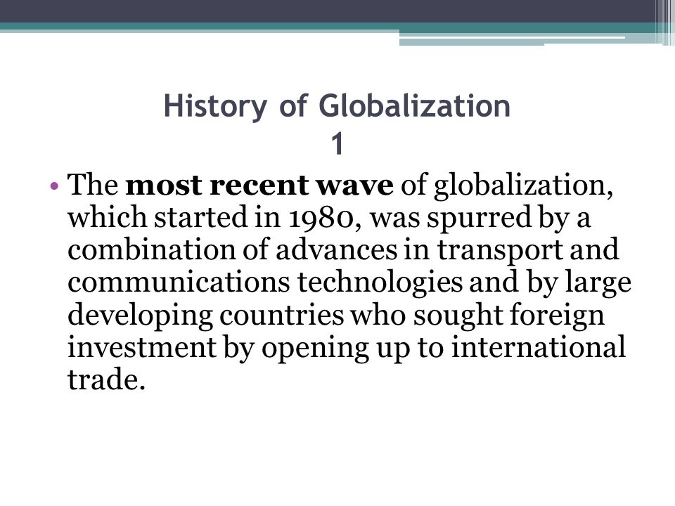 History of Globalization 1