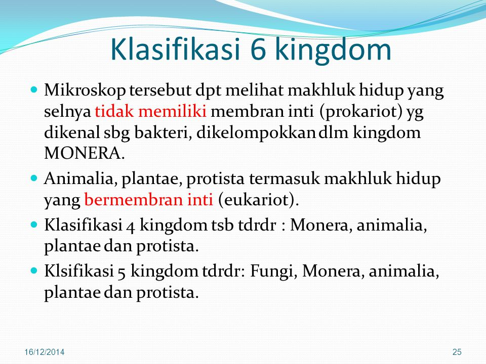 Klasifikasi 6 kingdom