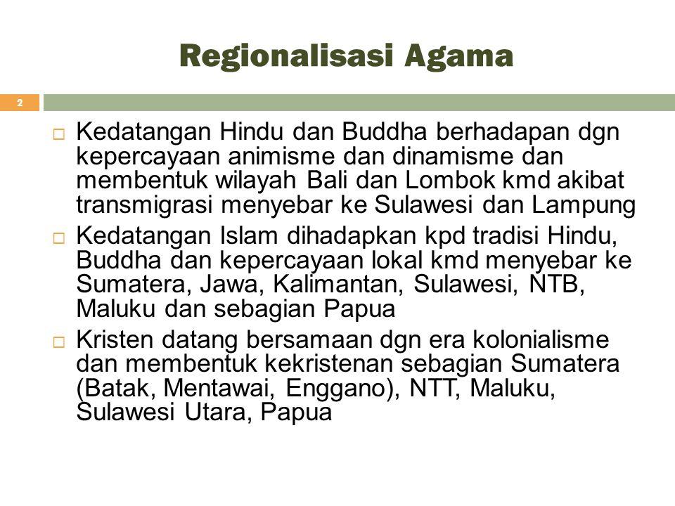 Regionalisasi Agama
