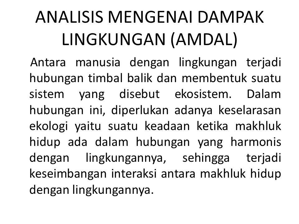 ANALISIS MENGENAI DAMPAK LINGKUNGAN (AMDAL)