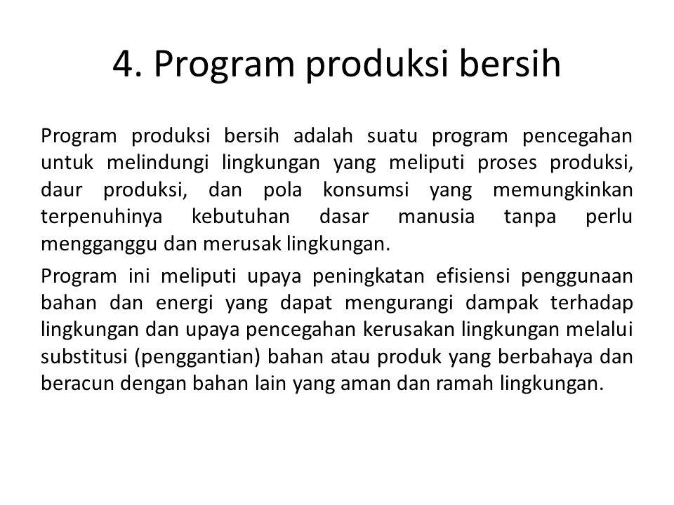 4. Program produksi bersih