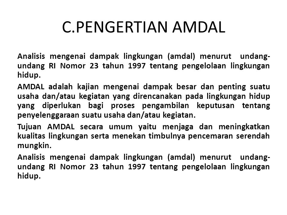 C.PENGERTIAN AMDAL