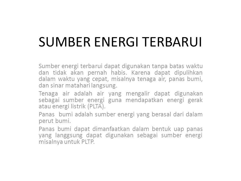SUMBER ENERGI TERBARUI