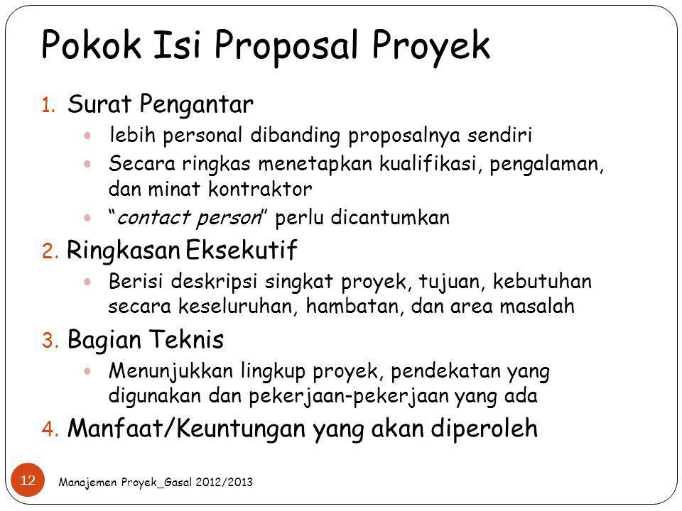 Pokok Isi Proposal Proyek
