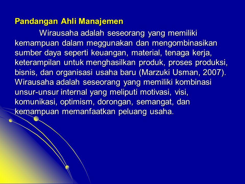 Pandangan Ahli Manajemen
